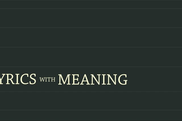 Lyrics With Meaning: Growing Pains