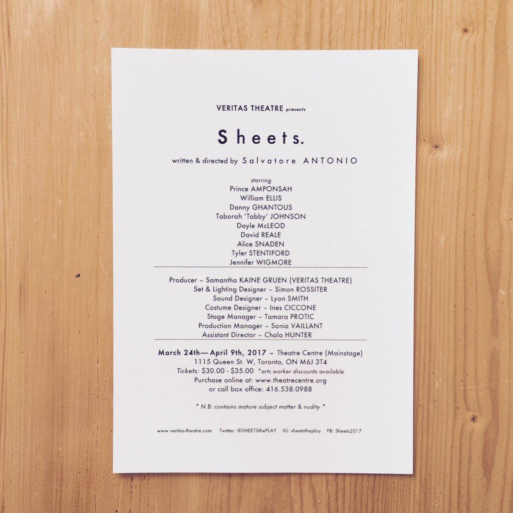 Sheets credits
