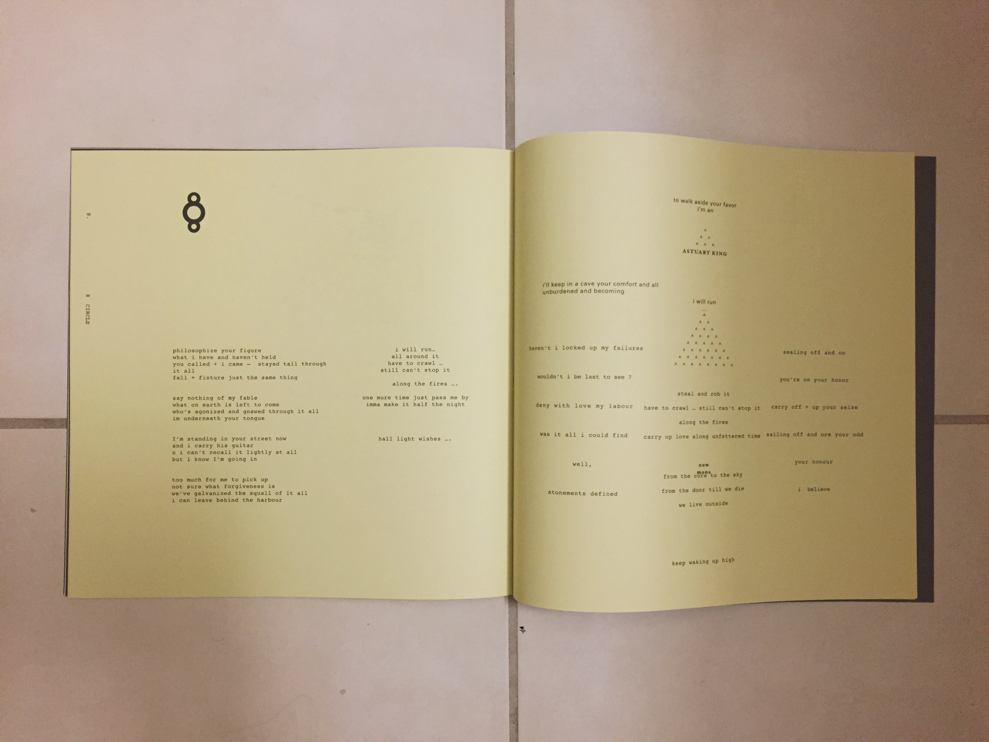 bon iver lyric booklet